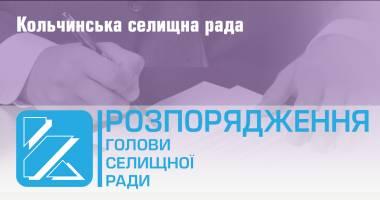 """Розпорядження """"Про припинення роботи Кольчинського ЗДО №1 та введення обмежувальних заходів у закладах освіти"""""""
